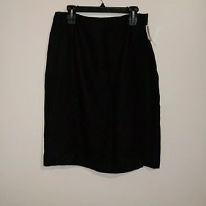 Jennifer Moore 100% Black Linen Skirt Sz 16